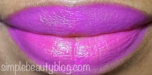 Left side of lips: OCC Nylon, Right side of lips: MAC Candy Yum Yum