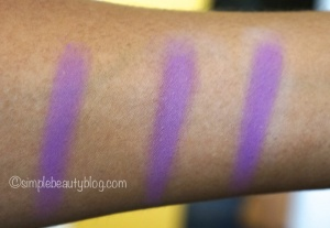 L-R: Shadow with no primer,  Shadow over Milani, Shadow over Urban Decay