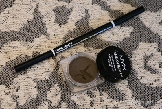 NYX Micro Brow Pencil in Brunette, NYX Tame & Frame in Brunette